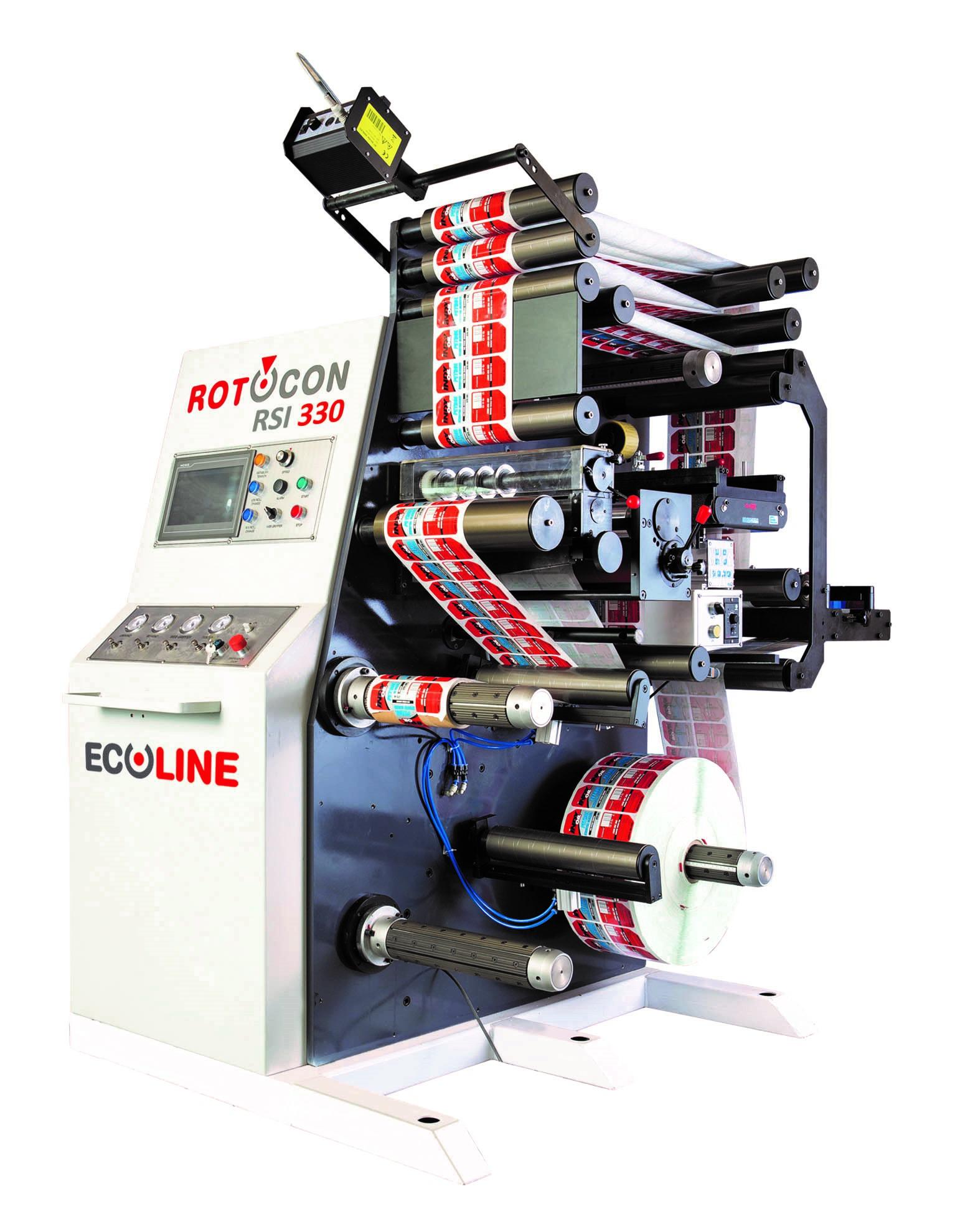 ROTOCON Ecoline RSI label slitter rewinder