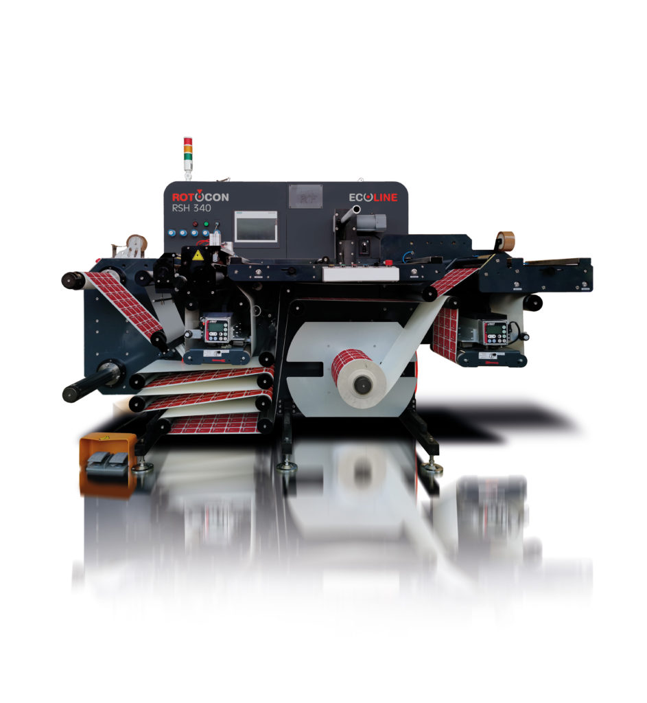 We maximise operator friendliness in label slitting, inspection and rewinding with the Ecoline RSH 340: compact footprint, easy-to-use control panel and open machine design