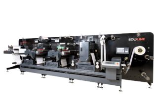 Ecoline RDF 330 digital printed label converting and finishing machine