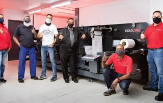 Rotocon and Impress Print Services with their new Rotocon Ecoline RDF 330 digital printed label converting and finishing system