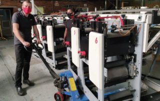In late June, Rotocon's technicians reassembled and installed the six-colour MPS EF flexo press and trained Dash Labels' operators.
