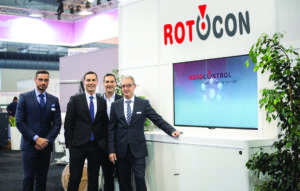 Marco Aengenvoort (MD of Rotocontrol), Pascal, Patrick and Michael Aengenvoort.